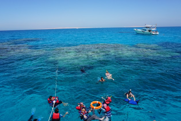 Hurghada snorkeling on the reef