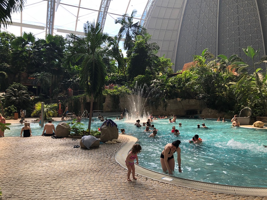 Tropical Islands water park lagoon
