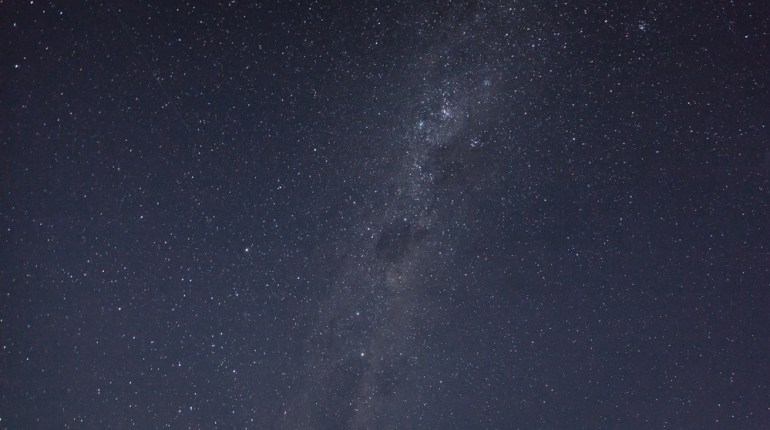 View of sky from salt lake Tyrrell
