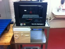 Hunt Middle School's new 3D printer.