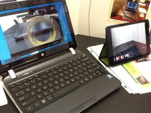 One student used her iPad to produce stop-motion animation for sharing online.