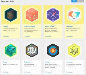 A selection of STEM-oriented DIY badges
