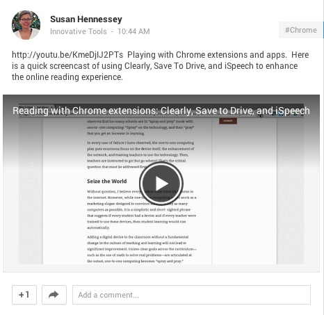 Interact with reading on the Chromebook : Innovation: Education