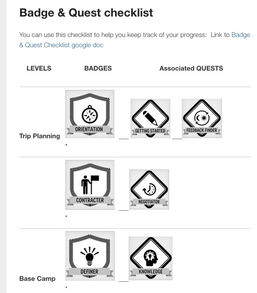 storing digital badges