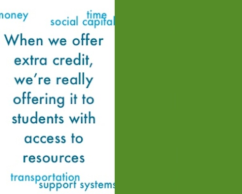 Is extra credit an equity issue? by Alex Shevrin
