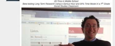 David Baroody 20 Time in the Middle Grades Classroom