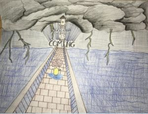 Student art about Brainado.