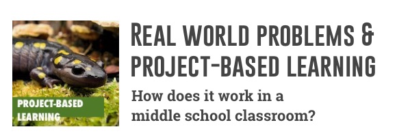 project-based learning in a middle school classroom