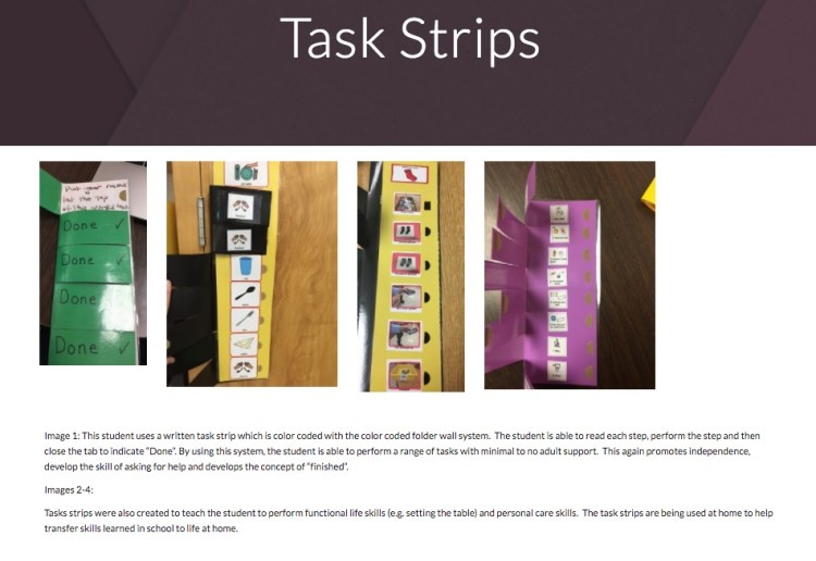 task strips great action research