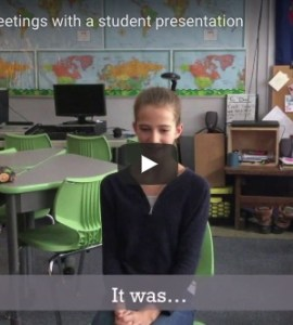 start faculty meetings with a student presentation
