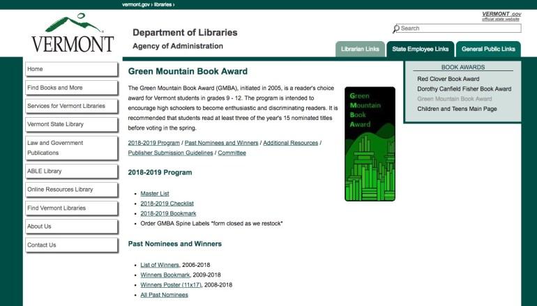 Green Mountain Book Awards