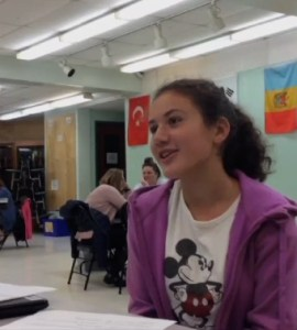 Ruthie's student-led conference at Leland and Gray