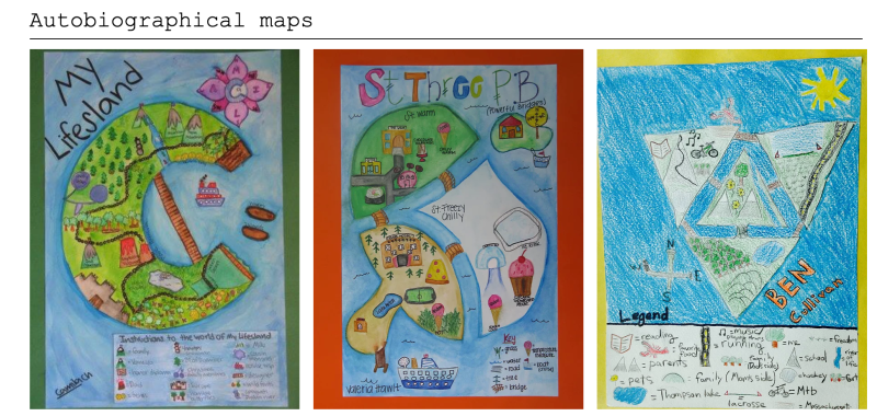 Autobiographical Maps from the Geography of Self Project