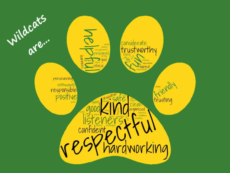 Wildcats are: kind, respectful, hardworking, helpful, friendly, listeners... etc etc