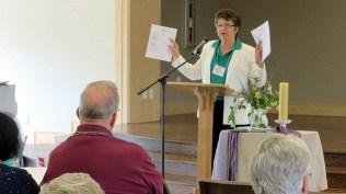 Dr. Susan Carter leads business session.