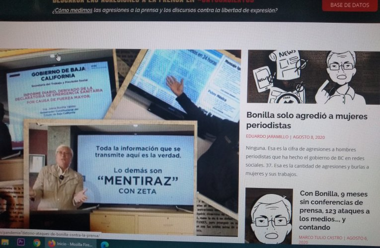 Marcaje mediático por agresiones de gobernador Bonilla a la prensa