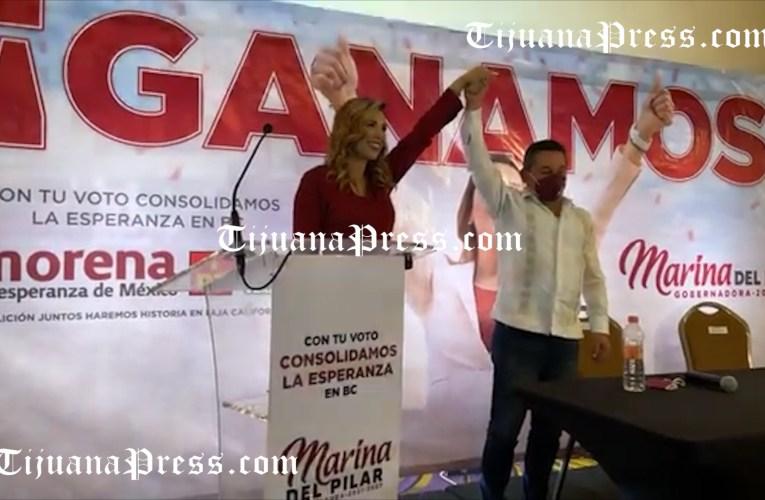 Marina del Pilar se autodeclara gobernadora