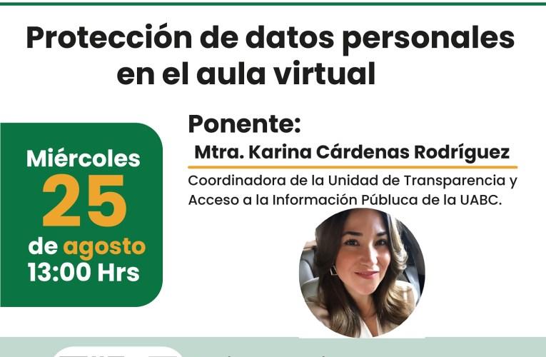 """Curso gratuito de """"Protección de datos personales en el aula virtual"""""""
