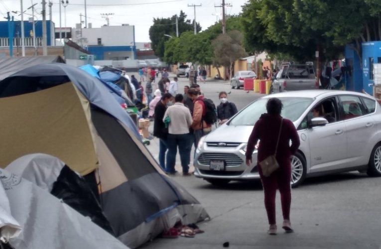 Se complica la situación en el campamento de solicitantes de asilo