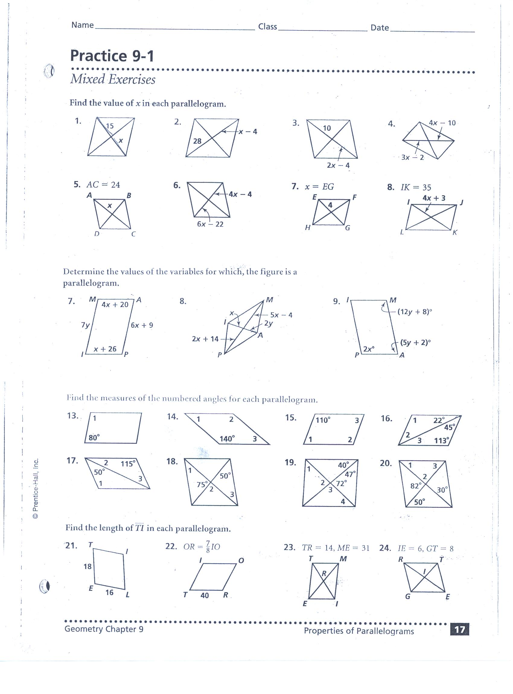 Worksheet 6 6 Kites