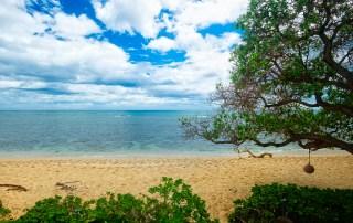 Our beachfront at Tiki Moon Villas