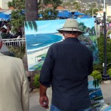 And what was up with this guy? Plein air painting in the 21st century? Great! The Boy thinks he's Weston and this dude thinks he's Renoir. Doesn't anybody besides me actually embrace the media of our time?