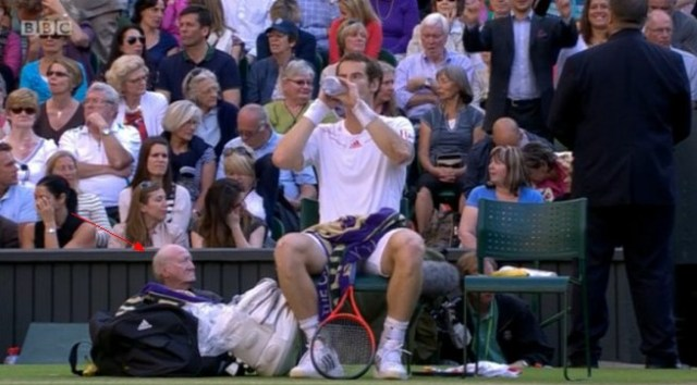Andy Murray and his old man in the bag