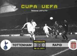 Tottenham Hotspur 3-0 Rapid Bucuresti 1971