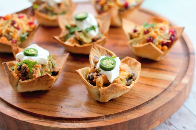 Indo-Mexican Papdi Chaat Cups