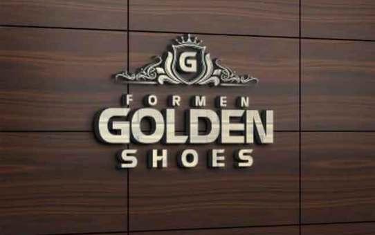 Golden for men shoes  حلب