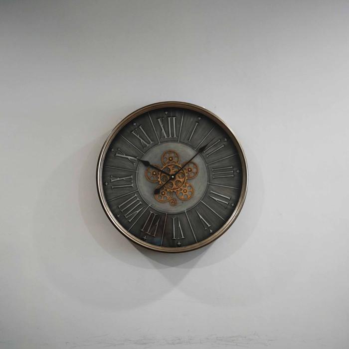 Jam Dinding Clock Diameter 60 cm - Abu-abu2