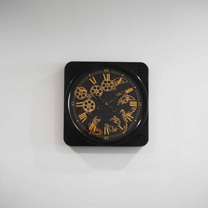 Jam Dinding Clock Panjang 50 cm x Lebar 50 cm - Hitam
