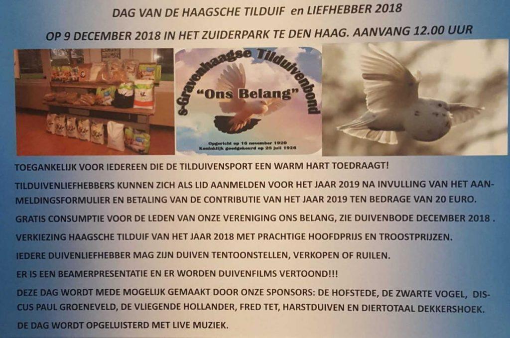 Dag van de Haagse Tilduif & Liefhebber 2018