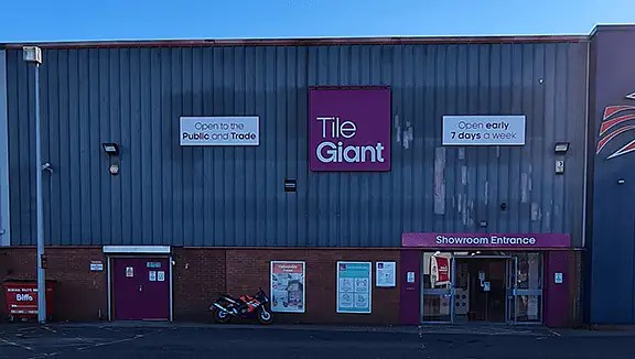 Tile Giant in Rayleigh 38 Stadium Way Trading Estate Benfleet Rayleigh Weir Essex SS7 3TS Opening Times Phone number Map Latenight Sunday hours Address DIY Stores Hardware Stores Tile Shop. Coatbridge Tile Giant Tile Shop In Coatbridge Tile Giant
