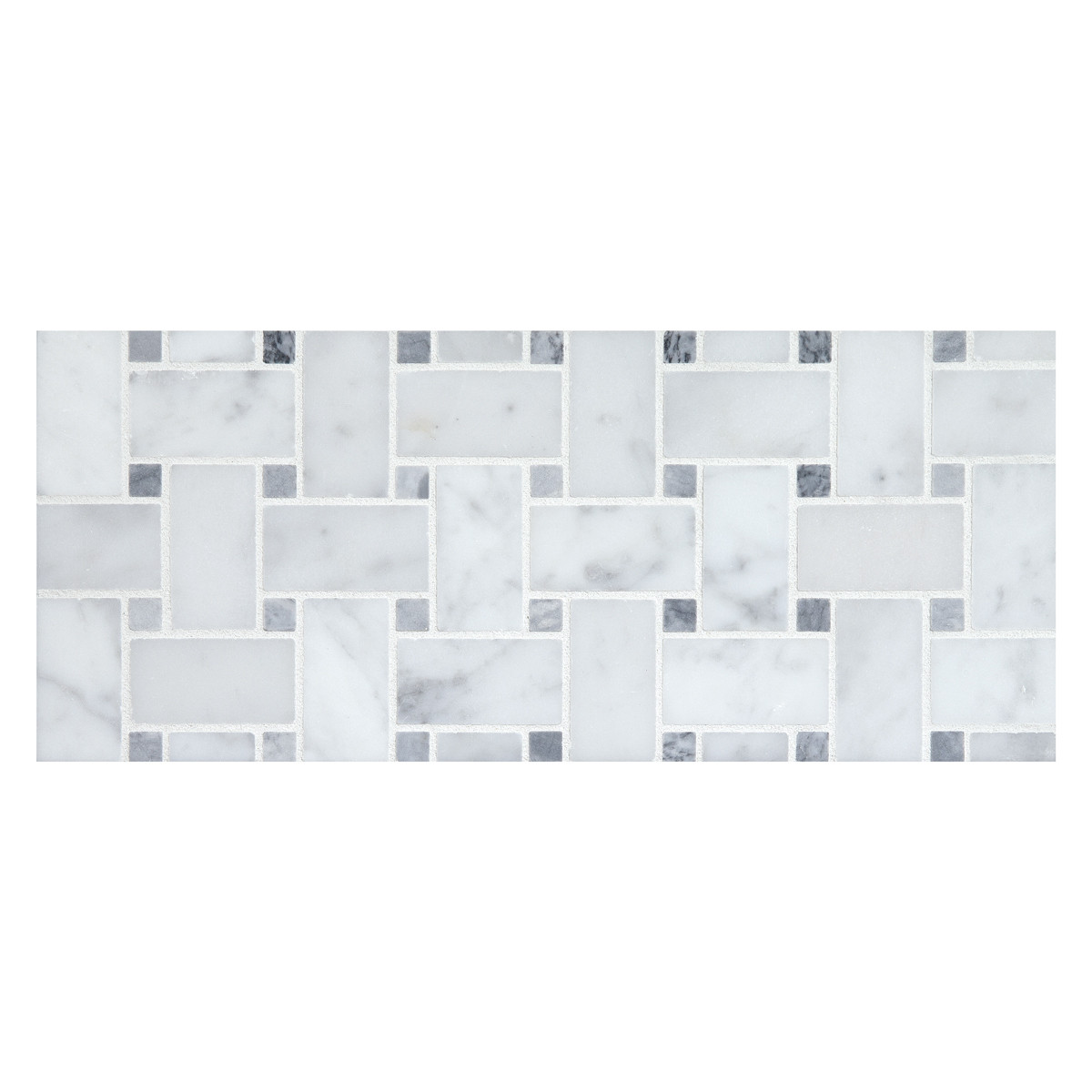 honed bianco carrara marble with grey dots