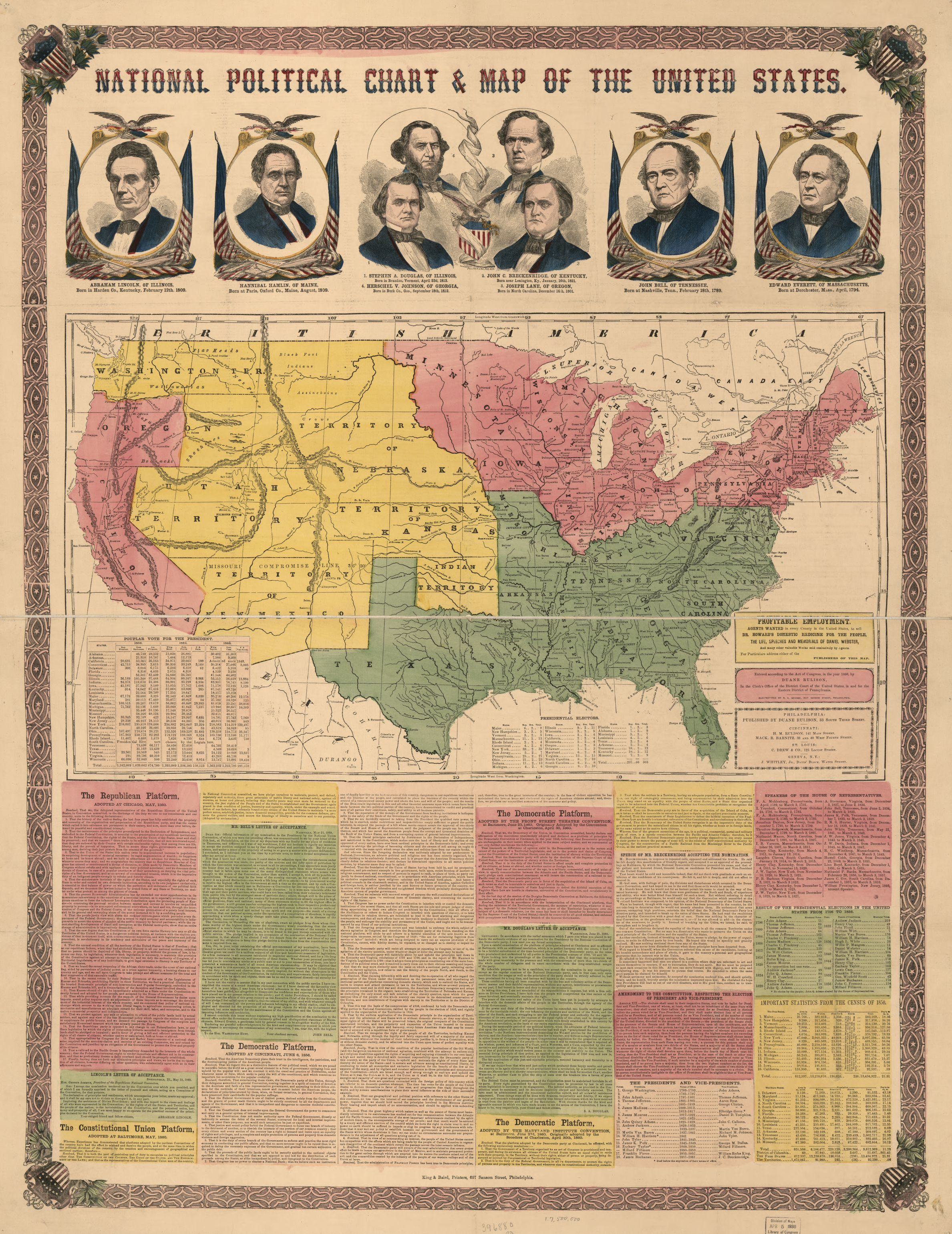 National Political Chart Amp Map Of The United States