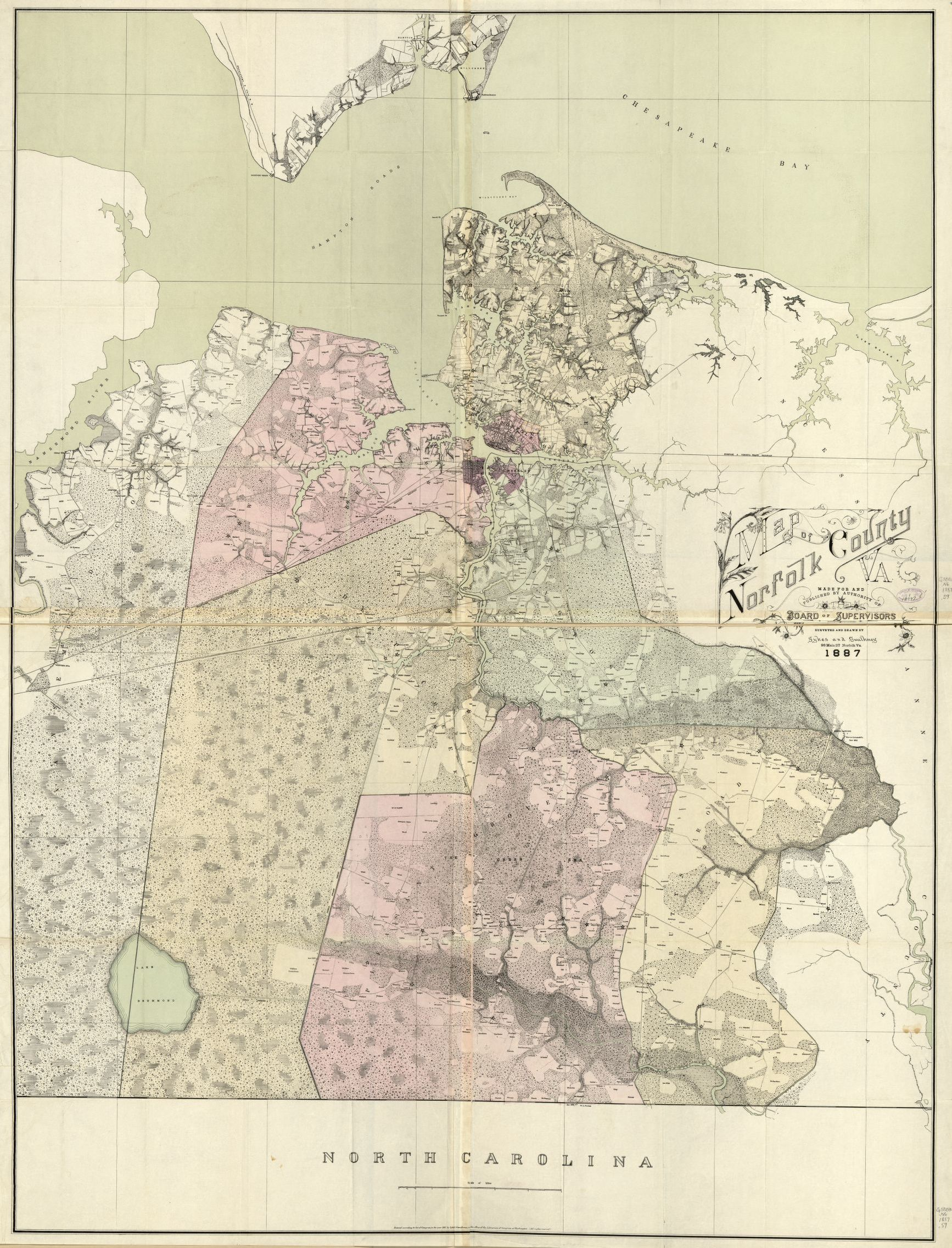 Map Of Norfolk County Va Made For And Published By