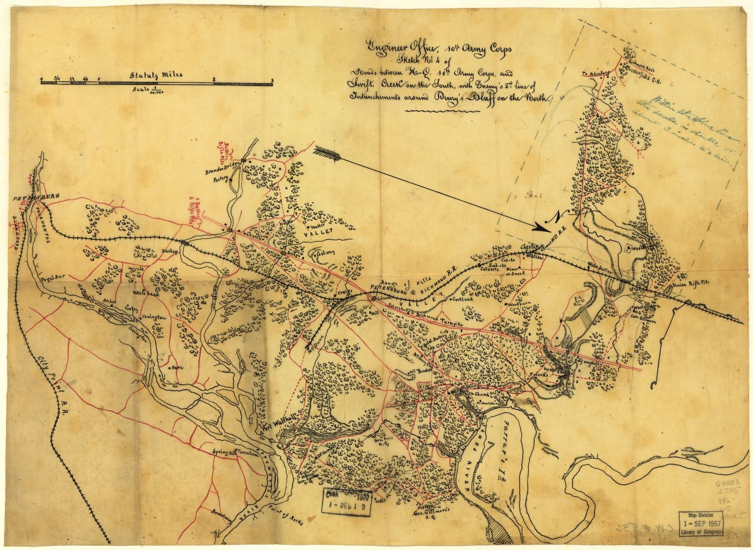 Civil War Maps Chesterfield County