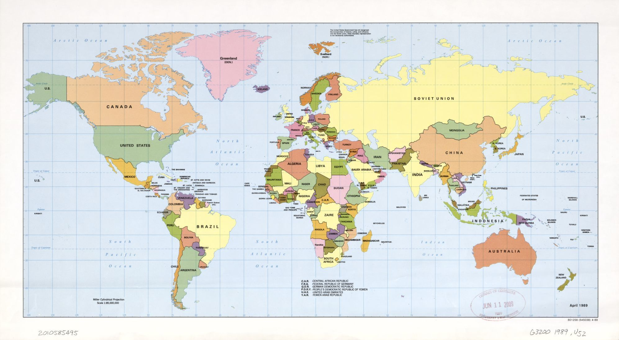 Political Map Of The World April