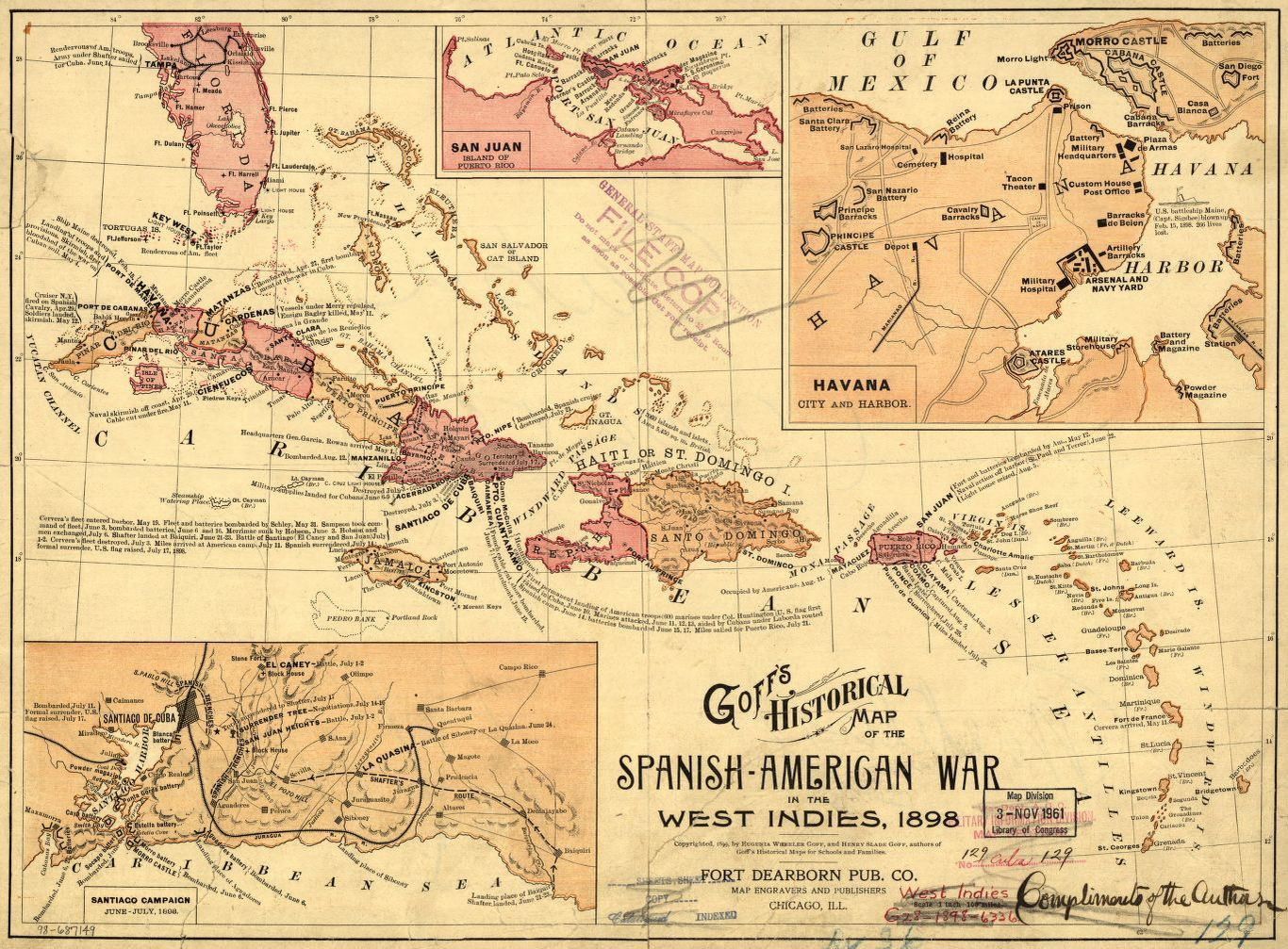 Goff S Historical Map Of The Spanish American War In The