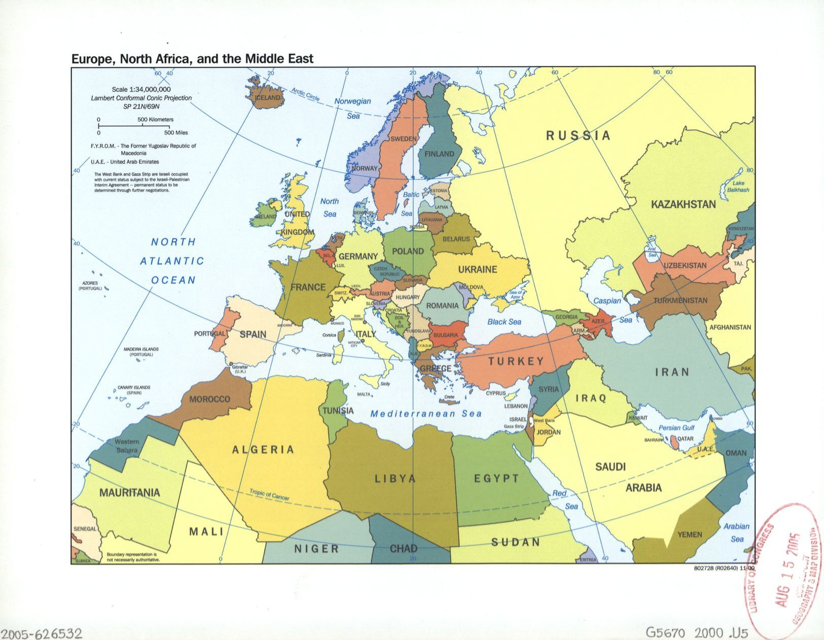 Europe North Africa And The Middle East