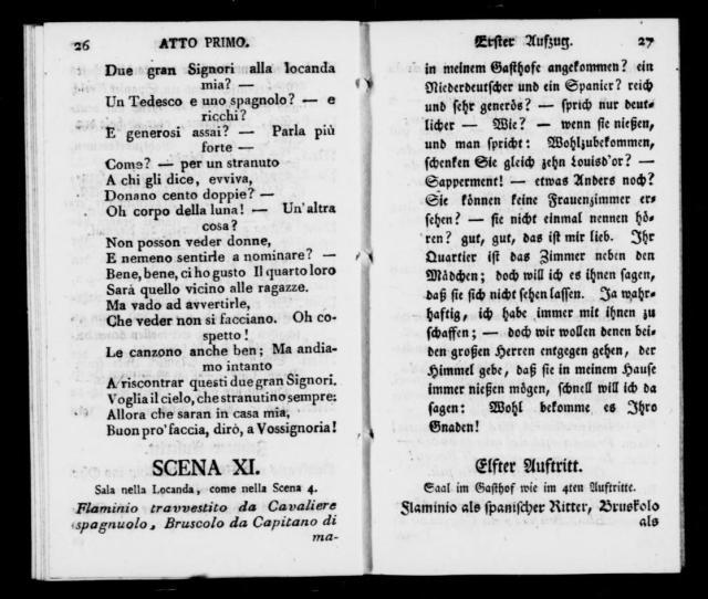 Albert Schatz Collection Locanda Dei Vagabondi Libretto German Italian Musschatz   Library Of Congress
