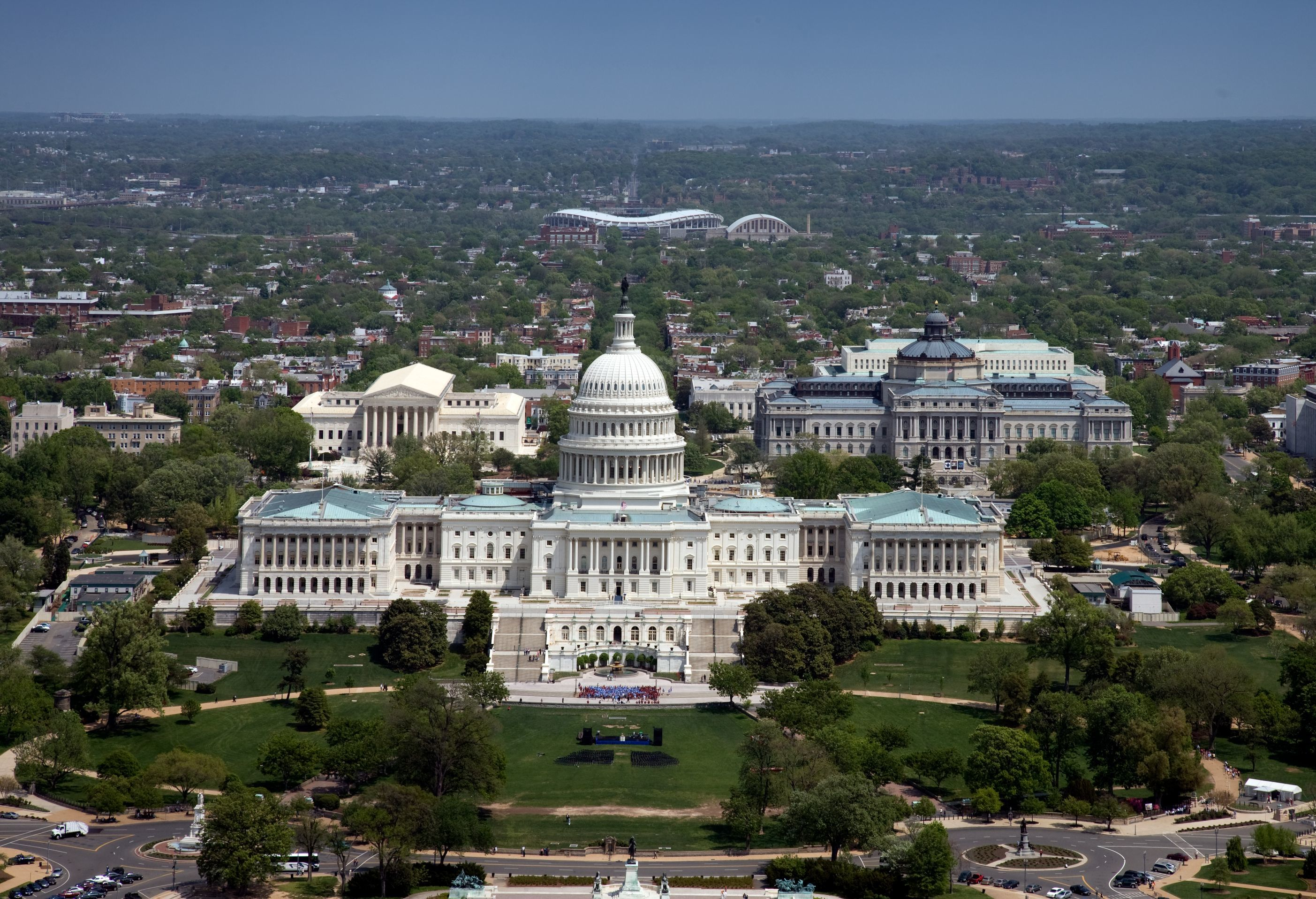 Aerial View United States Capitol Building Washington D