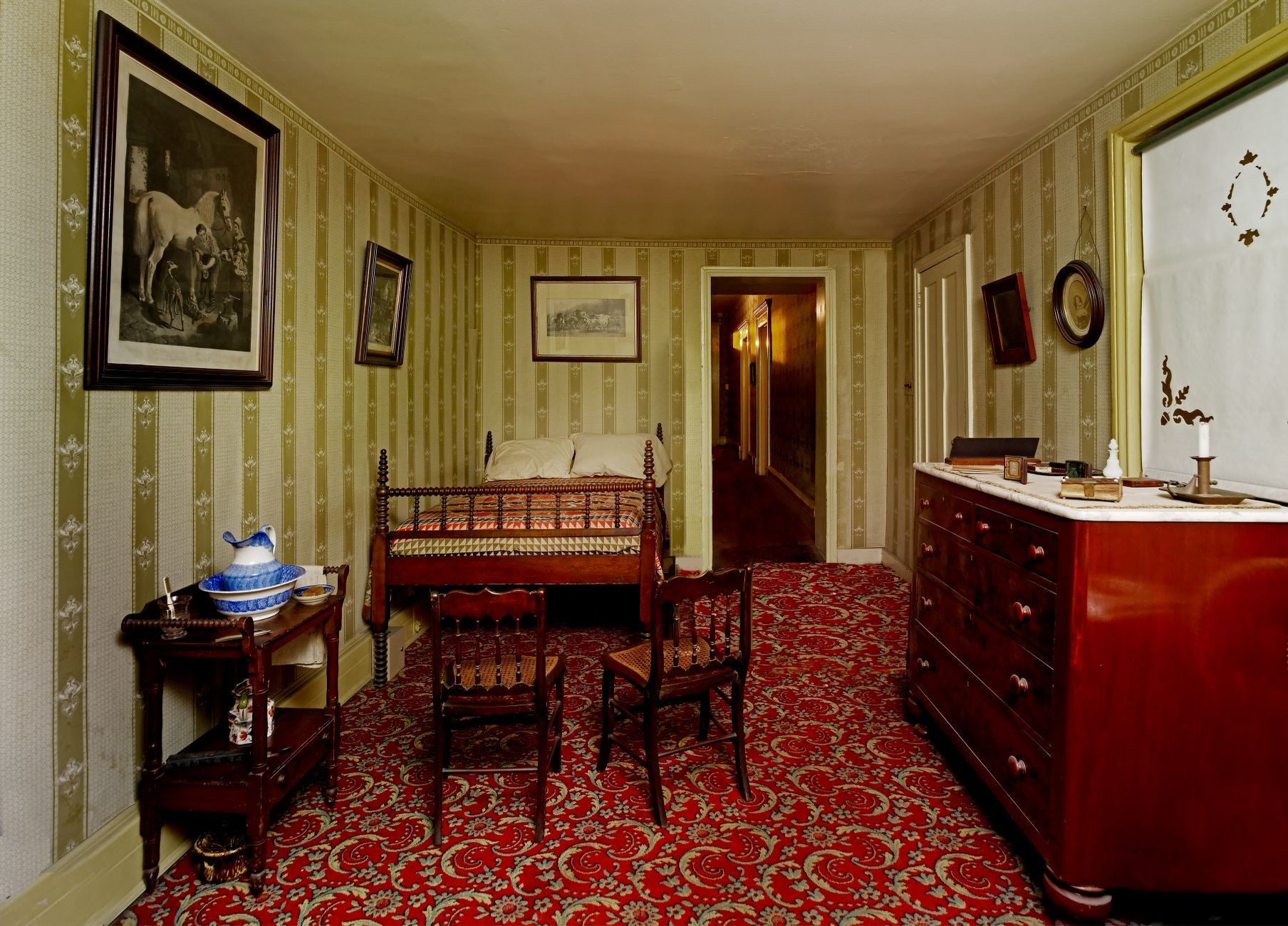 Room In The Petersen House Where Abraham Lincoln Died