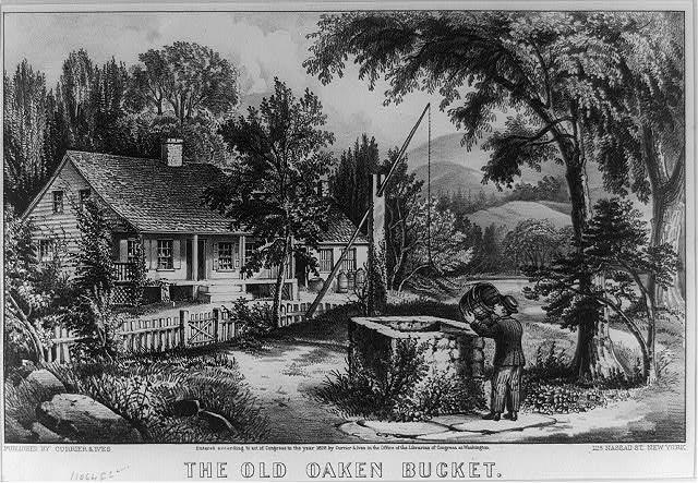 The old oaken bucket - b&w film copy neg. | Library of Congress