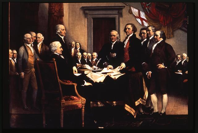 U.S. Capitol paintings. Declaration of Independence, painting by John  Trumbull in U.S. Capitol, detail II | Library of Congress