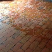 Quarry tile after cleaning