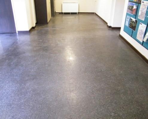 Thermoplastic floor tiles before