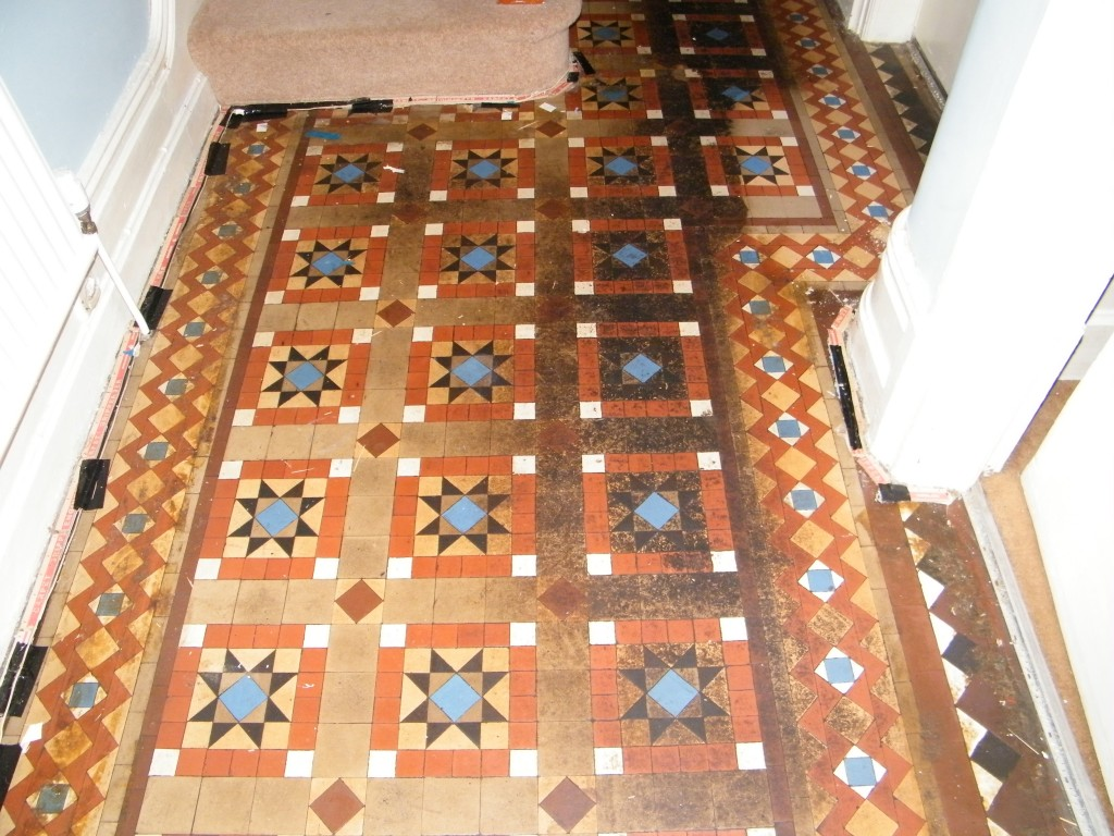 victorian hall tiled floor in macclesfield cheshire tile stone