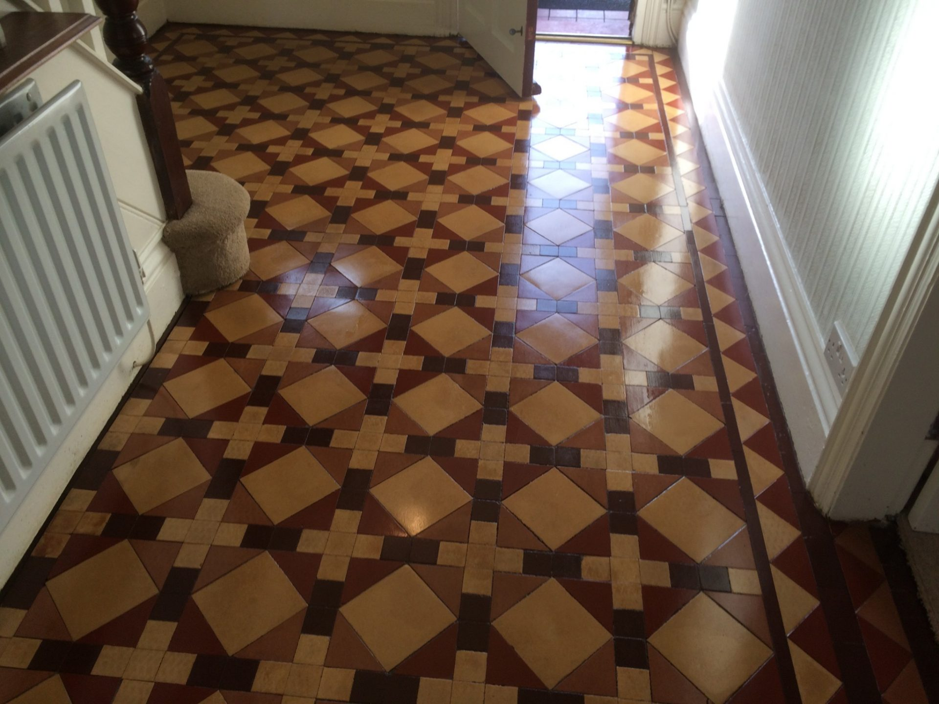 Victorian Minton Floor Tile Cleaning Stripping Sealing Polishing